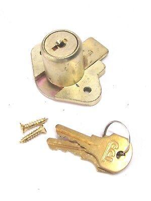 New Ccl Desk Drawer Lock Keyed Different 78 Cylinder Brass 02066