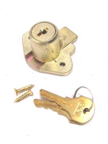 "NEW! CCL DESK DRAWER LOCK, KEYED DIFFERENT, 7/8"" CYLINDER, BRASS, 02066"