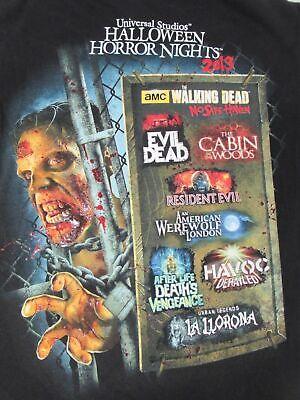 Halloween Horror Nights Werewolf (HALLOWEEN HORROR NIGHTS 2013 EVIL DEAD AMERICAN WEREWOLF SMALL BLACK SHIRT)