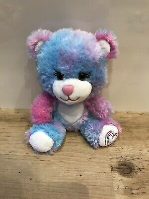 Build A Bear Workshop Smallfrys Pink Purple & Blue Love Heart Bear for sale  Middlesbrough