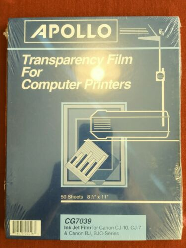 Apollo CG7039 Transparency Film For Computer Printers 50 She