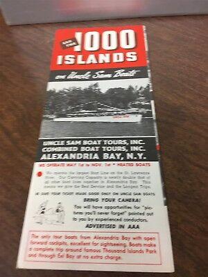 Original 1960's Alexandria, New York Uncle Sam Boats 1000 Island Tour/ Brochure