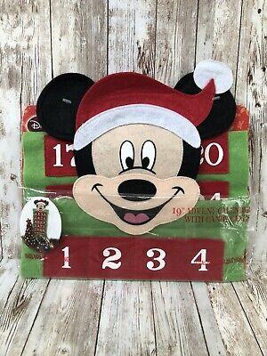 Disney Mickey Mouse Felt Advent Calendar 24 Pocket - NEW in Package