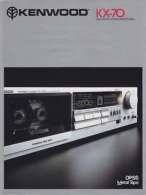 Kenwood Service Manual~KX-55C//-77C//-5XC Cassette//Tape Deck//Player~Original