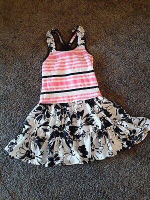 Girls Black White Hot Pink Dress Size 5 By Jona Michelle