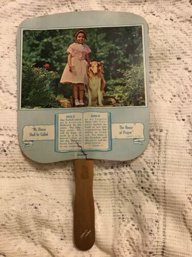 Vintage Advertising Hand Fan Collins Insurance Jackson MS