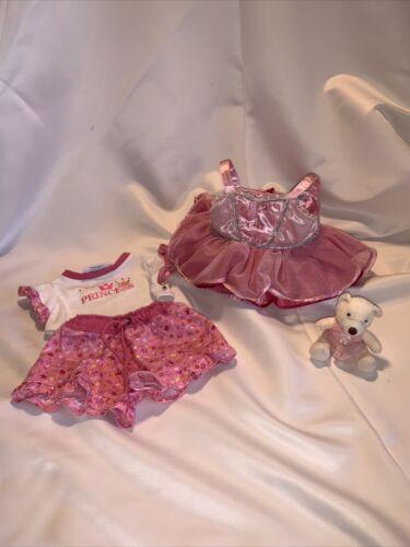 Build A Bear Pink Ballet Dress Princess Pajamas W/ Little Ballerina Bear -Mc D - $9.99