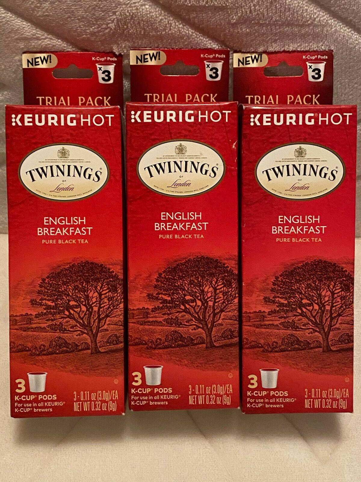 New Twinings Of London English Breakfast Black Tea K-Cups For Keurig 9 Count - $10.50