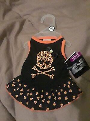 Size xxs simply dog skull candy corn halloween pet dress nwt ](Skull Candy Costumes)
