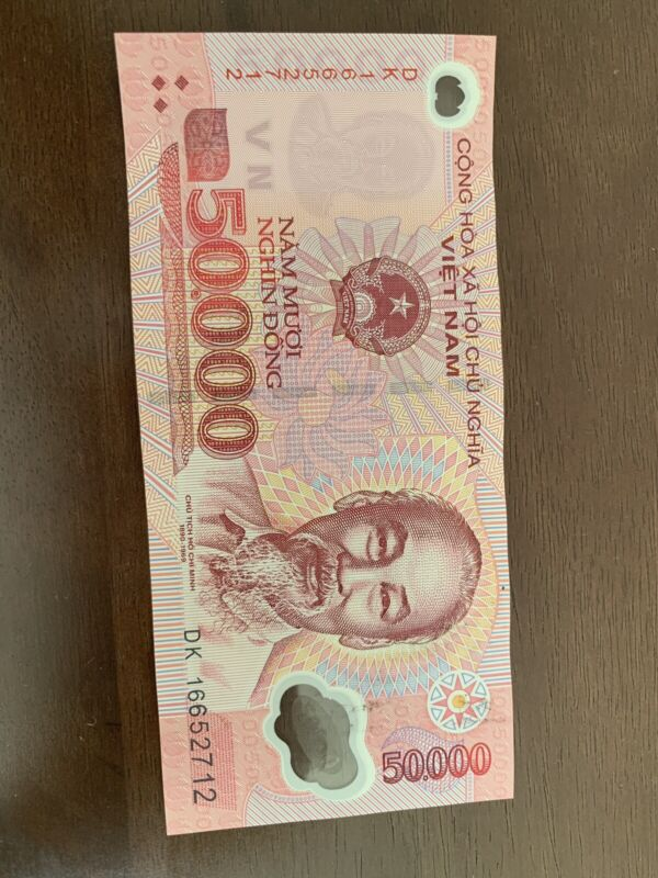 Vietnam 50000 Bank Note Dong VND Good Condition.(1) Single Banknote VN 50,000