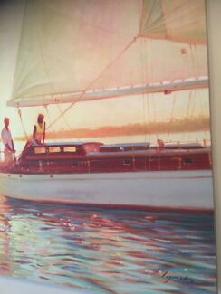 Canvas sailing prints $15 for both  ONO