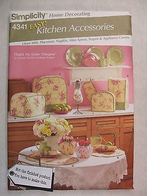 Toaster Cover Patterns - Blender Toaster Breadmaker Covers Mini Apron Sewing Pattern 4341 S See Full Info