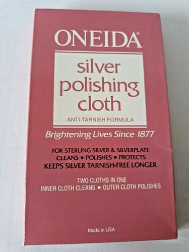Oneida Silver Polishing Cloth 2 Cloth System Cleans Polishes Protects