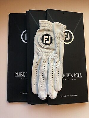 FootJoy Pure Touch Golf Glove (3pk) - PICK SIZE & HAND Brand (Touch Golf Gloves)