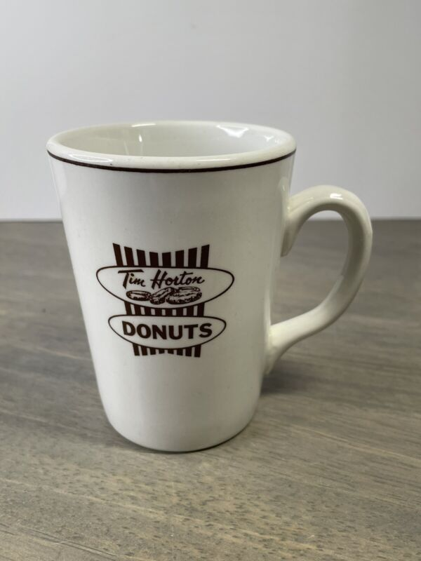 Vintage TIM HORTON DONUTS Restaurant Ware Mug Coffee Cup Vitrified Hotel Ware
