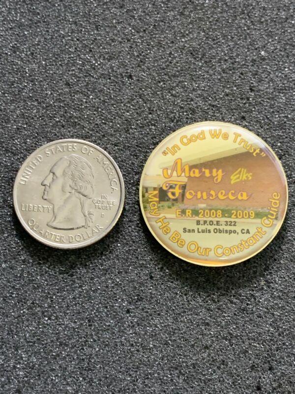 2008-09 BPOE Elks Club Lodge San Luis Obispo California #322 Pin Pinback #38148