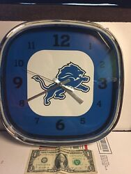 NFL DETROIT LIONS  FOOTBALL TEAM LOGO GRAPHIC WALL CLOCK-TOTALLY UNIQUE SHAPE***