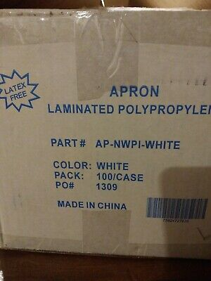 Apron Laminated Polypropylene White