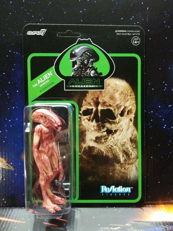 "Super 7. Alien Xenomorph The Alien Newborn 4"" ReAction Figure. New. 2020"