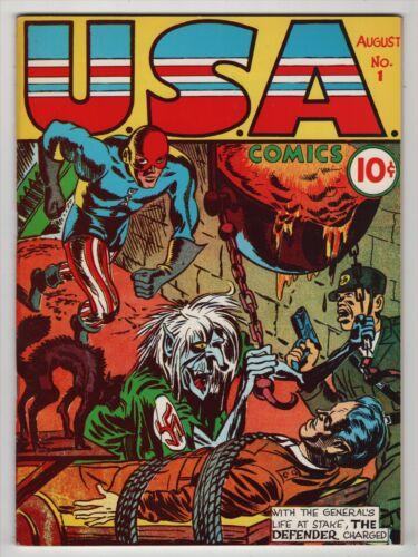 USA Comics #1 VF/NM 9.0 high grade 1941 WWII Timely reprint 1973 Flashback Nazi