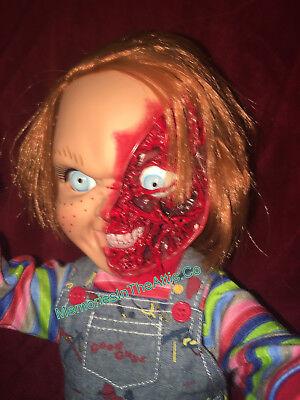 NEW Mezco Child's Play 3 Talking Pizza Face Chucky Doll Mega Size 15