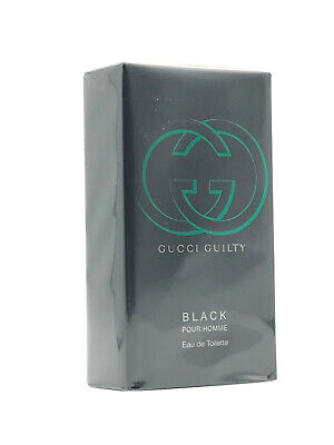 GUCCI GUILTY BLACK EDT POUR HOMME SPRAY 1.6 OZ SEALED BOX