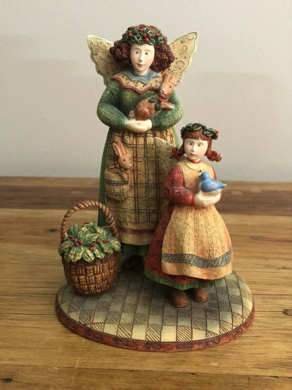 """Everyday Angels """"Gloria and Erin"""" Figurine Susan Winget 1st Ed 1999 Lang & Wise"""