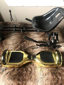 Chrome gold hoverboard/Segway comes with seat attachment