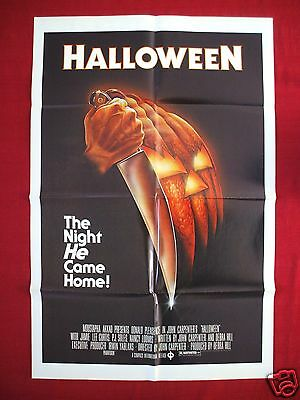 HALLOWEEN * 1978 ORIGINAL MOVIE POSTER 1SH MICHAEL MYERS MASK THE THING FOG NM (Halloween The Movie Mask Origin)
