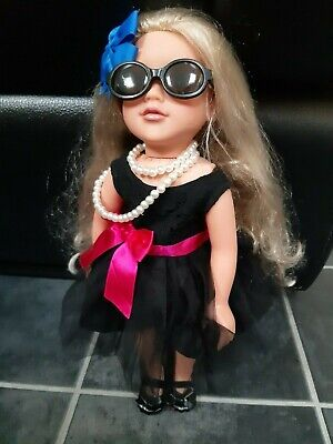 Design a Friend Doll in Outfit Plus Pink Dress and Accessories