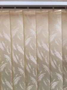Fabric vertical blinds for patio door
