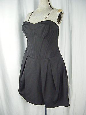 "NWT""Jill Stuart""Black Strapless Party Dress-Bust 34.5/S-M"