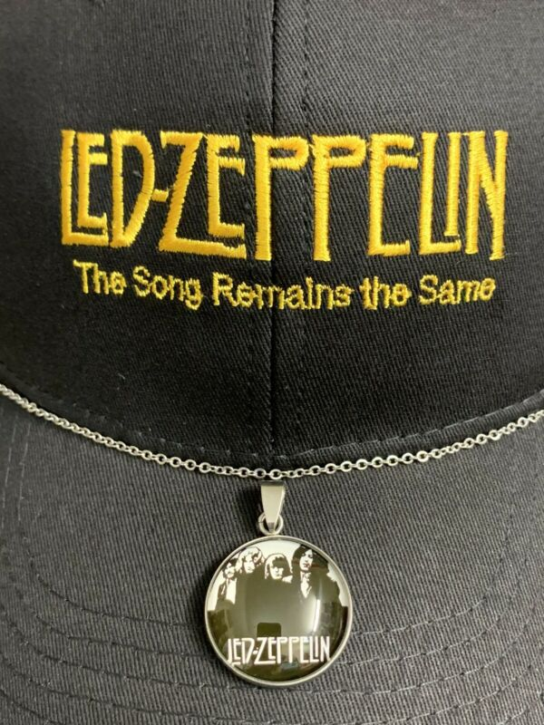 LED ZEPPELIN HAT AND NECKLACE