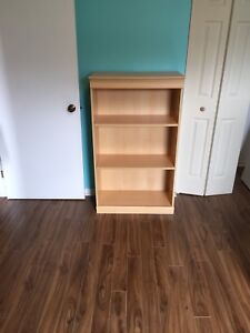 Sleigh bed frame and book shelf