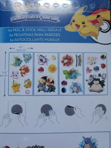 RoomMates RMK2535SCS Pokemon Iconic Peel and Stick Wall Deca