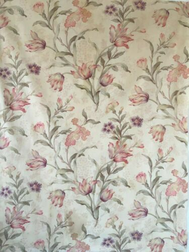 Beautiful 19th C. French Printed Floral Cotton Fabric  (2610 )