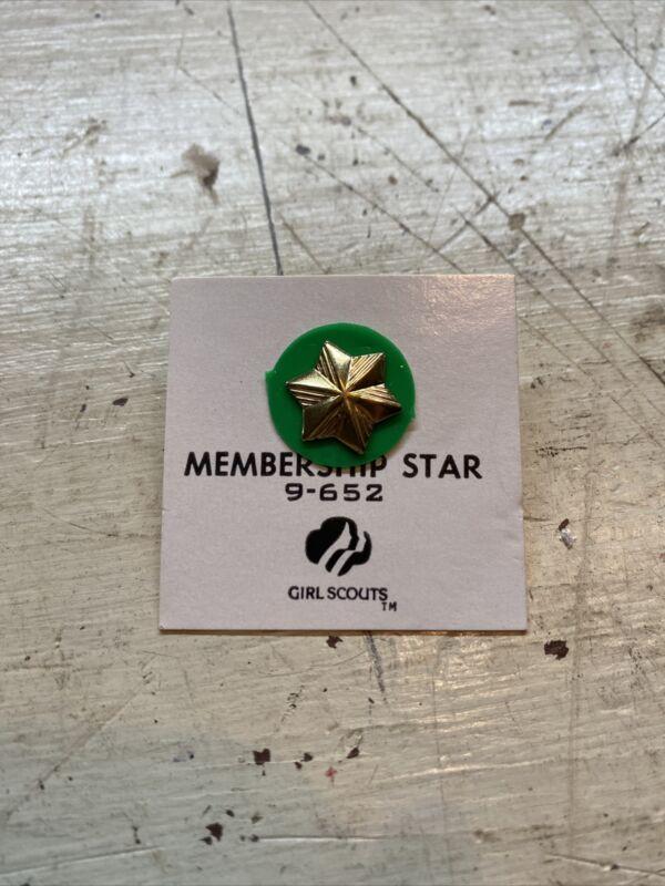 Vintage Girl Scouts Of America Membership Gold Star 9-652
