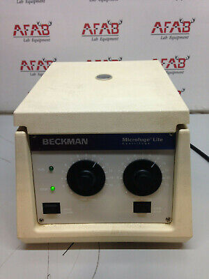 Beckman Microfuge Lite Centrifuge 365606 With F1802 Rotor