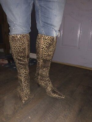 (Impo Stretch Norris Beige and Brown Animal Print Boots Size 9!  Cheetah)