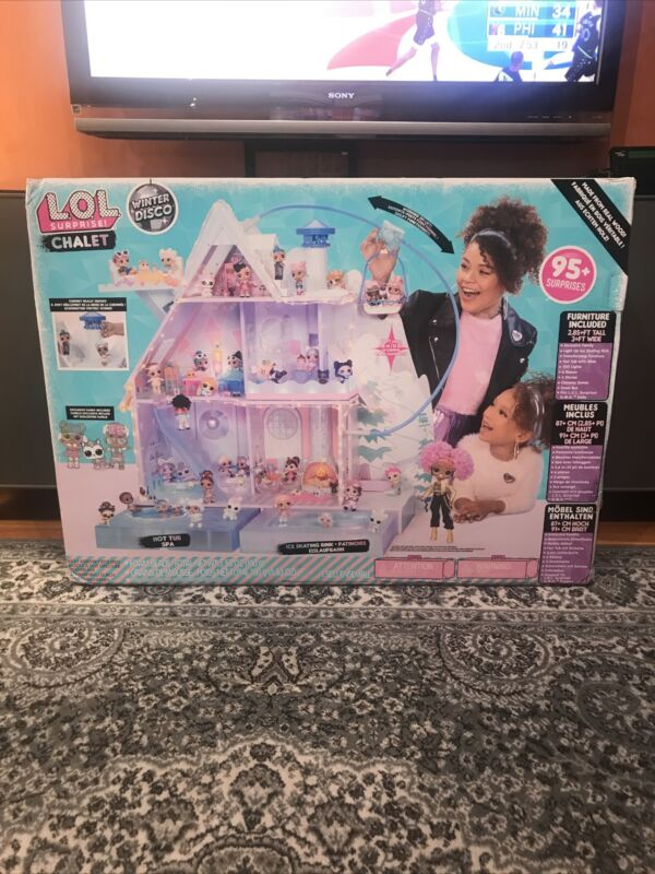 *NEW* LOL Surprise Winter Disco Chalet Doll House With 95+ Surprises Sealed!