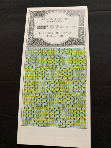 PC4245  SILVER REED KNITTING MACHINE PUNCH CARDS PATTERNS SERIES 57 281-290