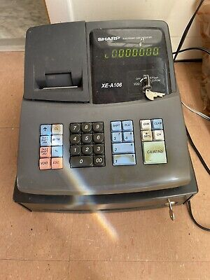 Sharp Xe-a106 Electronic Cash Register With All Keys