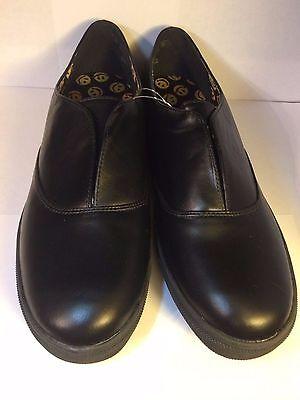 Women's Size 11 Joe Boxer Black Casual Closed Toe Dress Shoes Thick Rubber Base