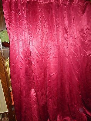 VICTORIA CLASSICS VELVETY VELOUR CARMINE RED (PAIR) CURTAIN PANELS 50 X 81 ()