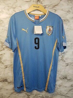 URUGUAY Puma 2014/15 Home Soccer Jersey Luis SUAREZ #9 New Blue  image