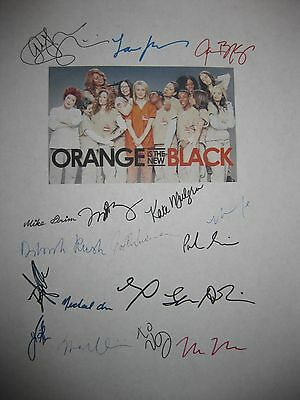 Orange is the new Black Signed Script x18 Taylor Schilling Prepon Uzo Aduba rpnt