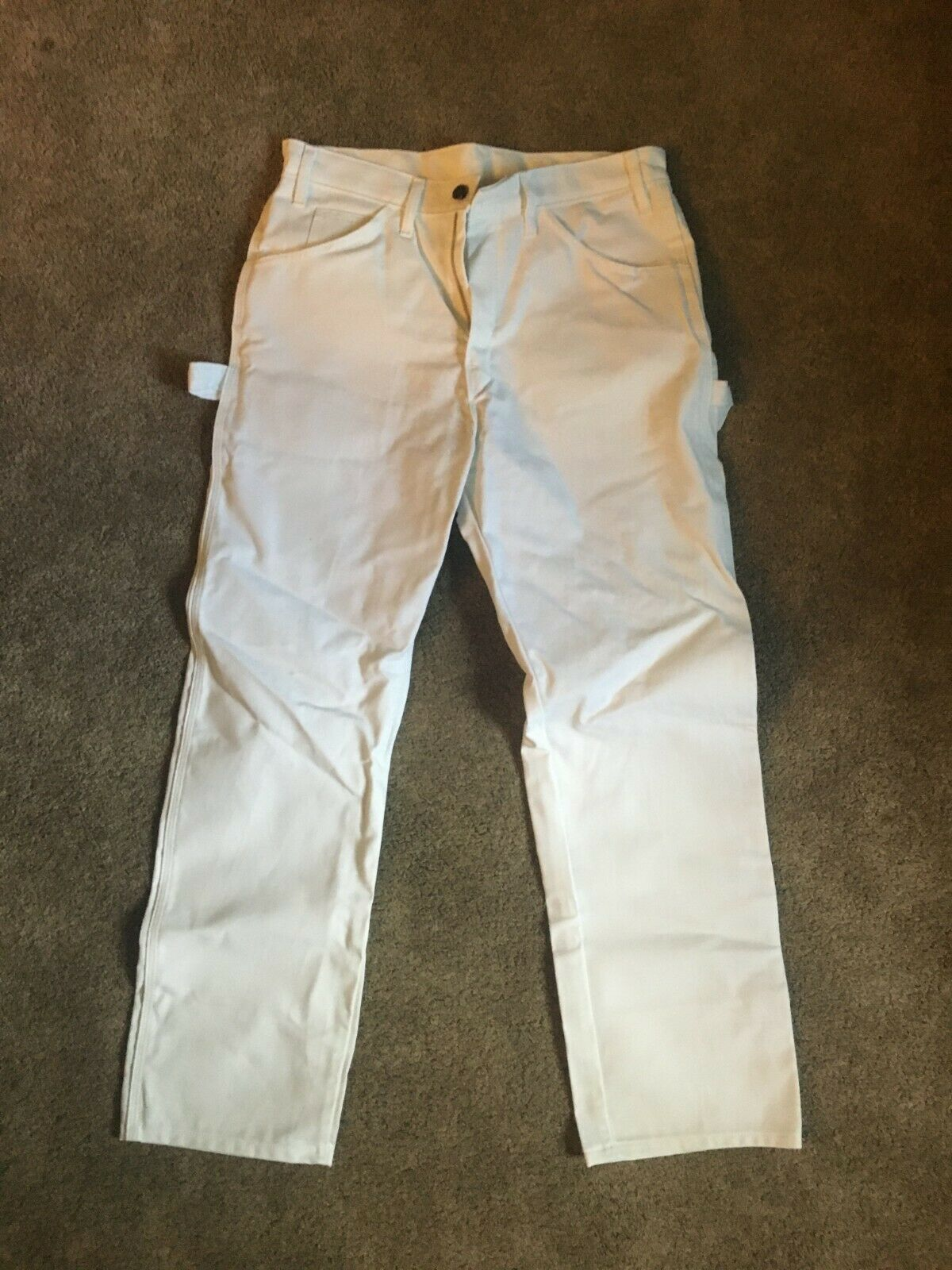 Dickies Men's Relaxed-Fit Utility Pants - White - 32x30 - Pa
