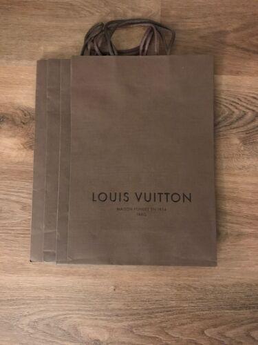 New Louis Vuitton Brown Shopping Gift Paper Bag 14 x 975 x 425