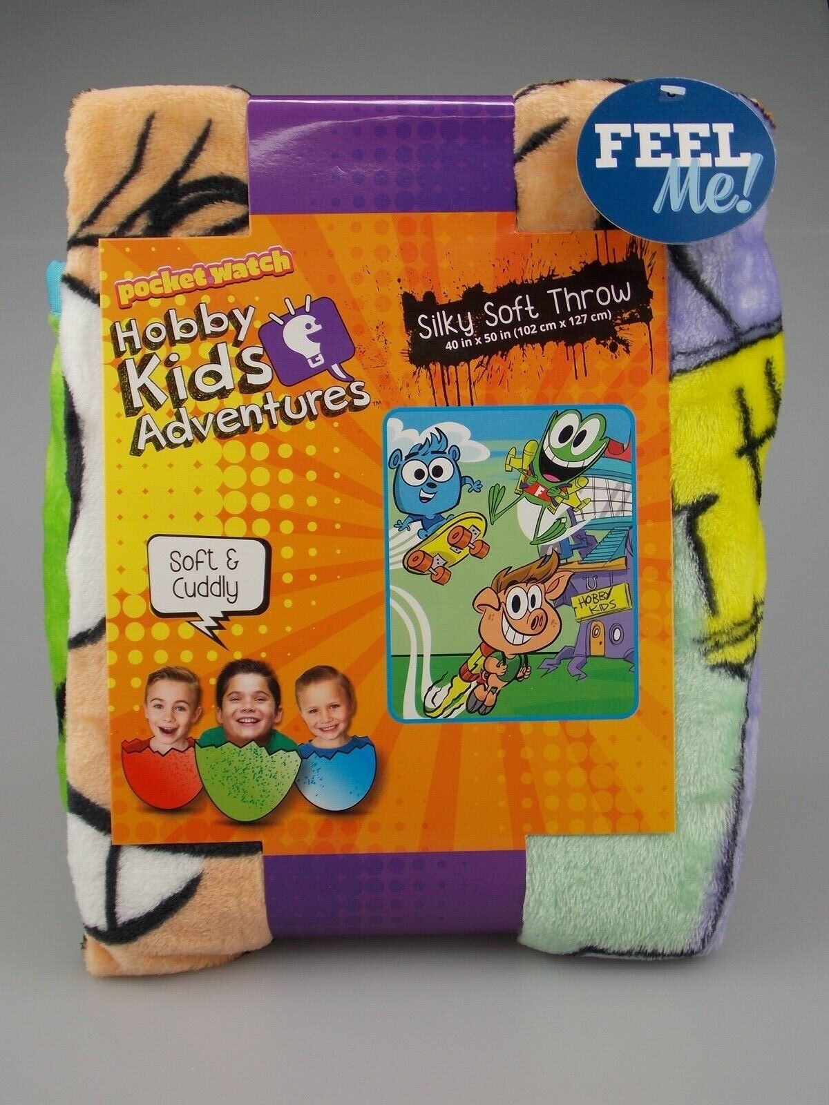 NEW Hobby Kids Adventures TV Silky Soft Throw Blanket 40 X 5