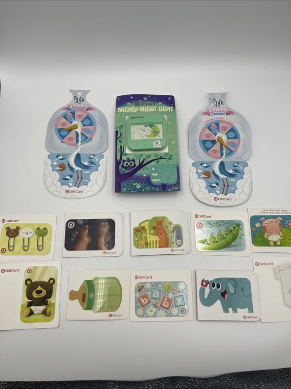 Target Gift Card LOT of 13- All Baby Designs- All Different - No Value